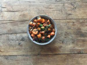 Worteltjes salade met baharat