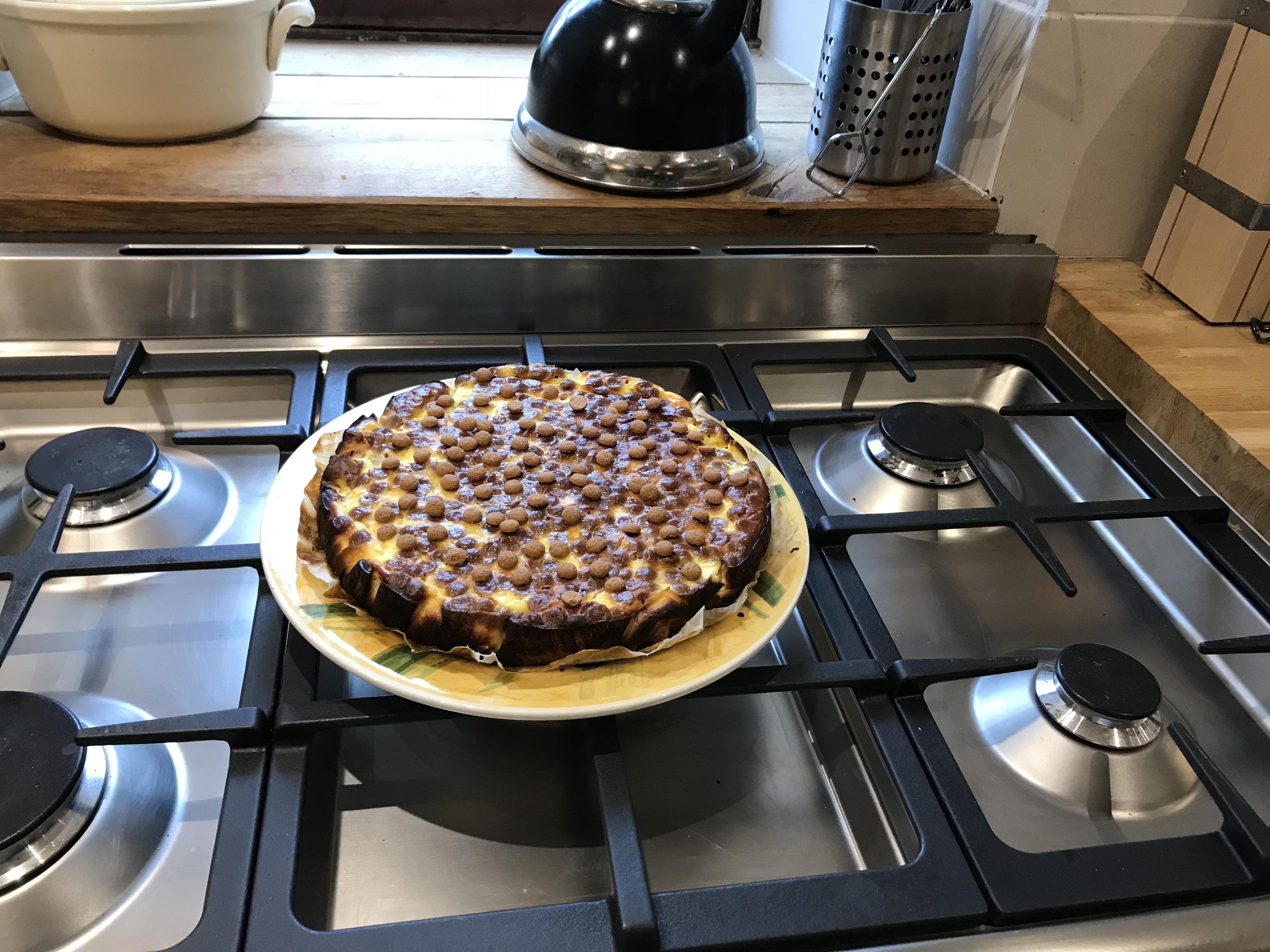 Pepernoten witte chocolade cheesecake